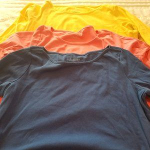 Trio of Talbots Boat Neck 3/4 Sleeve Tees - Size X